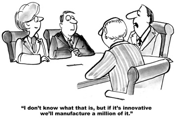 cartoon of innovation meeting