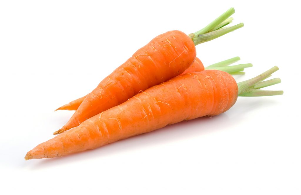 two fresh carrots